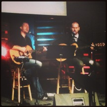 Scott and I leading worship for Sunday Night at DreamHouse Church